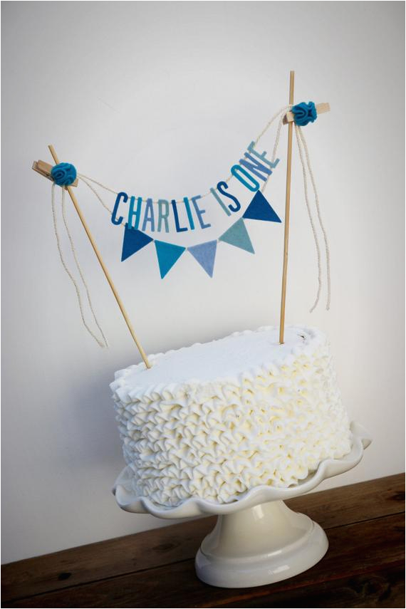 personalized cake banner personalized