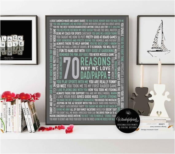 70 reasons we love dad 70th birthday