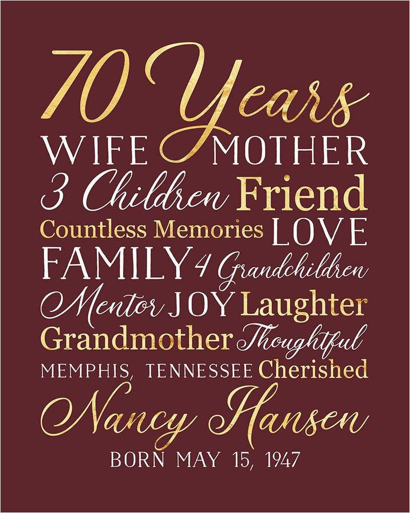 birthday gift for grandma choose any