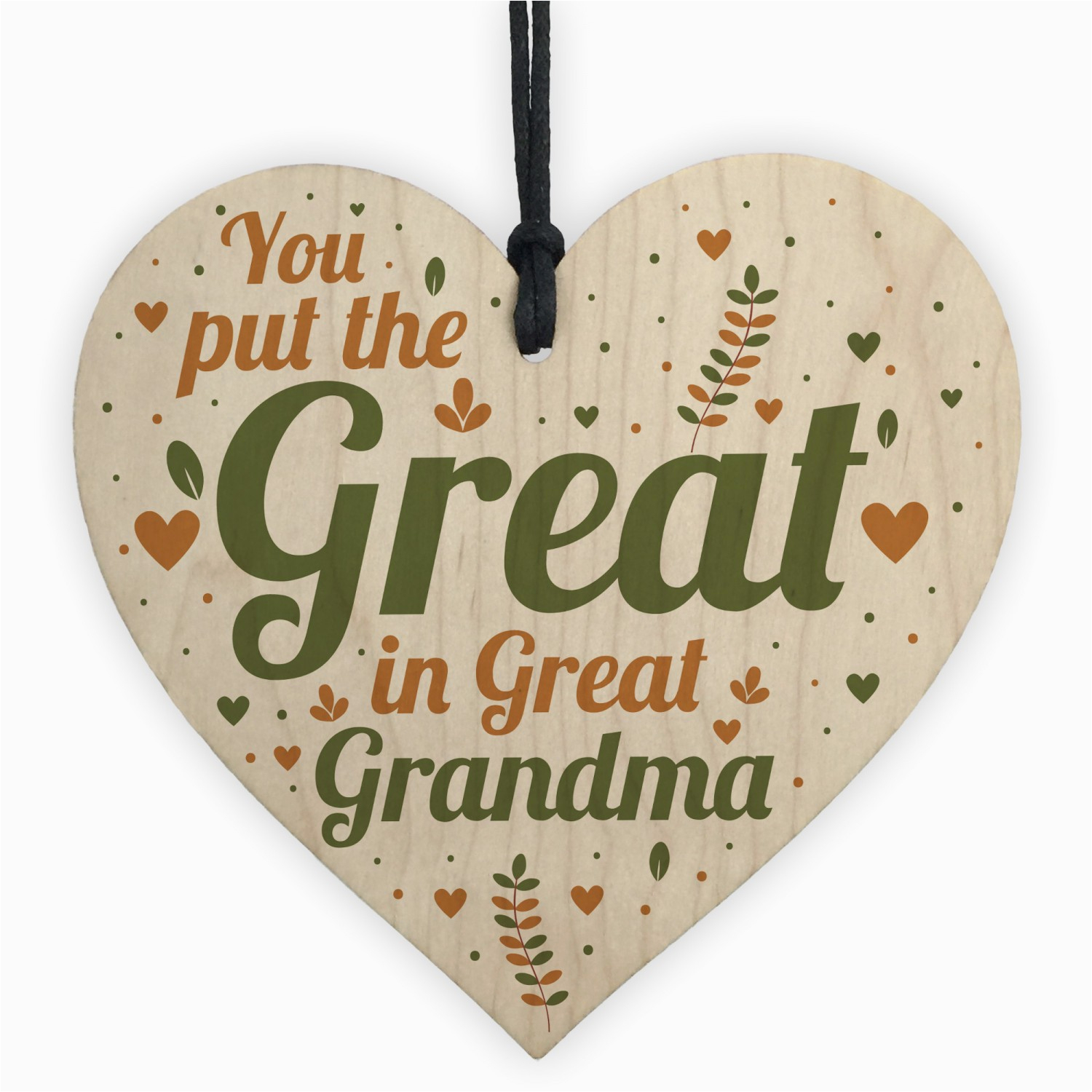 great grandma birthday christmas card gifts wooden heart gift