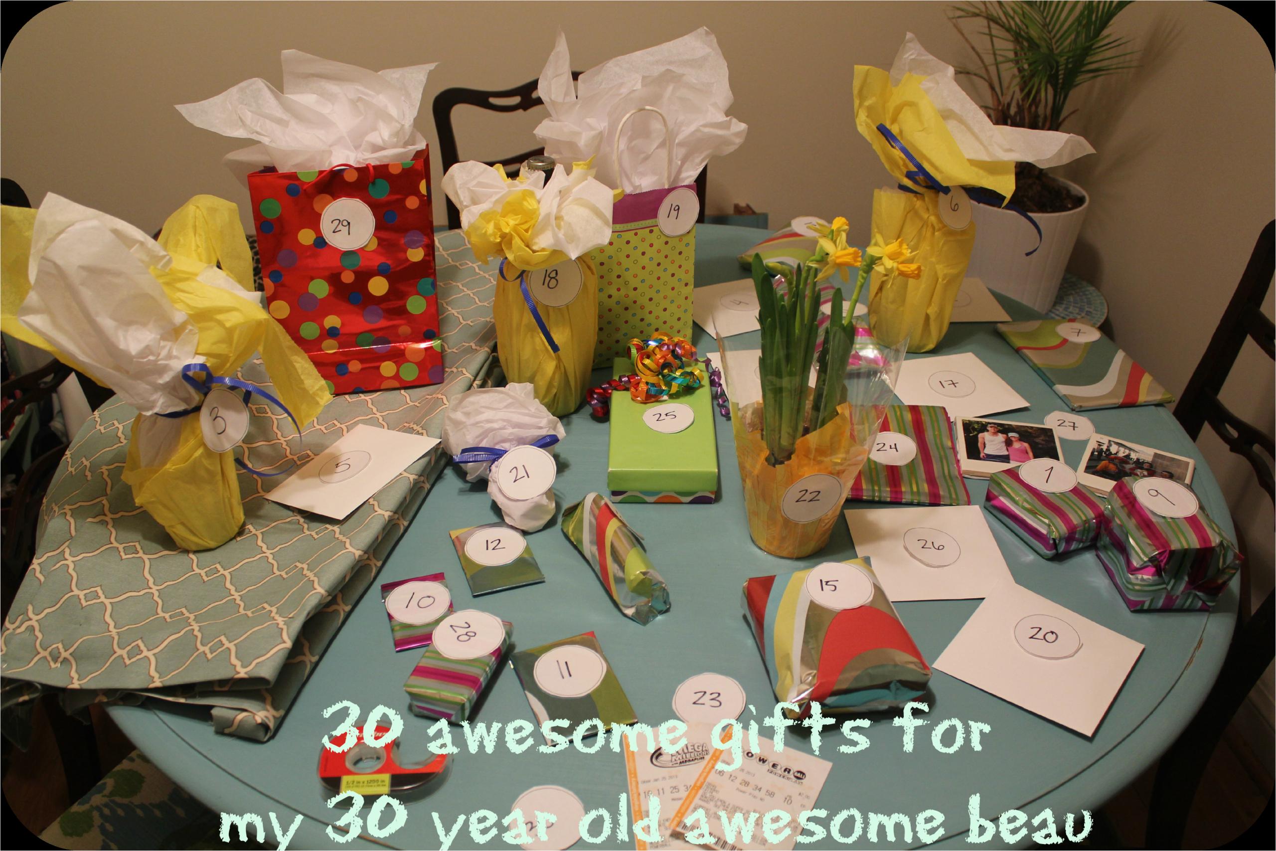30 birthday gifts for 30th birthday