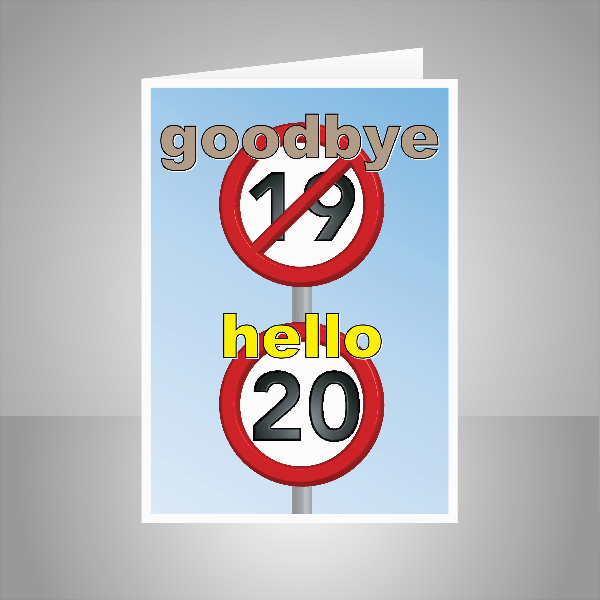 funny 20th happy birthday card for him
