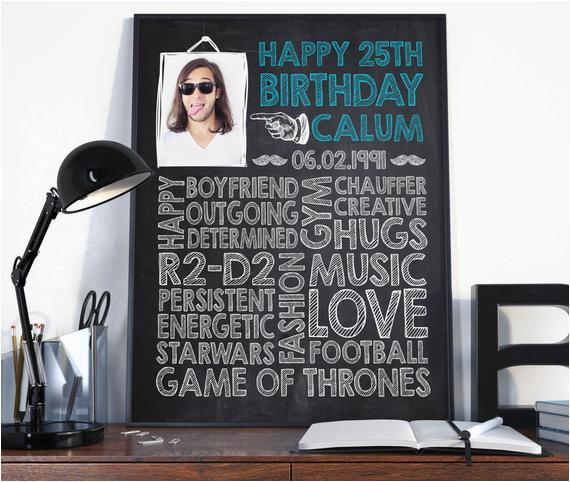 Birthday Gifts for Him 25 25th Birthday Birthday Gift for Him Birthday Sign Birthday