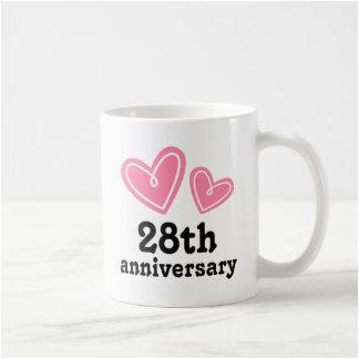 28 year anniversary mugs