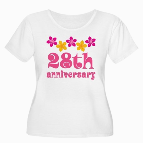 28th anniversary tropical gift plus size