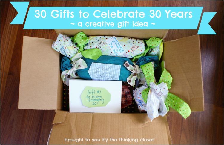 30 gifts to celebrate 30 years