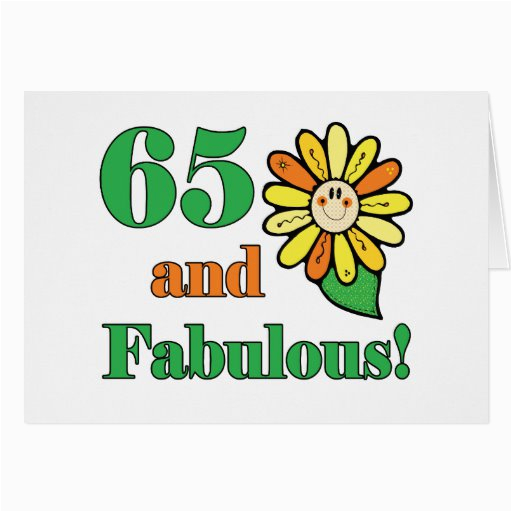 Birthday Gifts for Him 65 Fabulous 65th Birthday Gifts Greeting Card Zazzle
