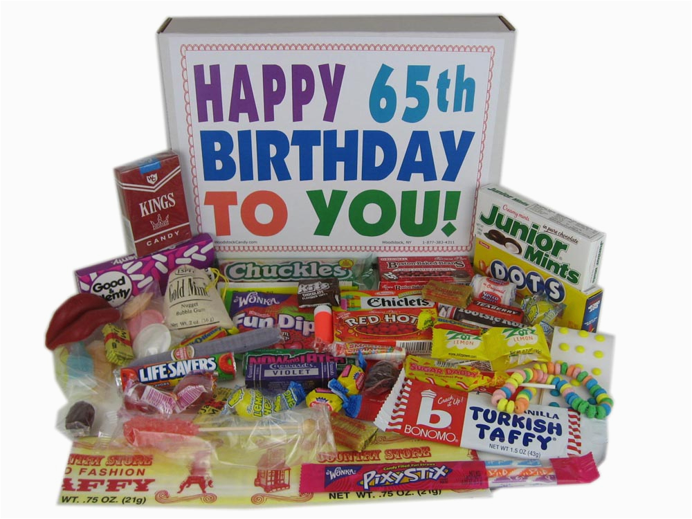 65th birthday gifts can be so sweet