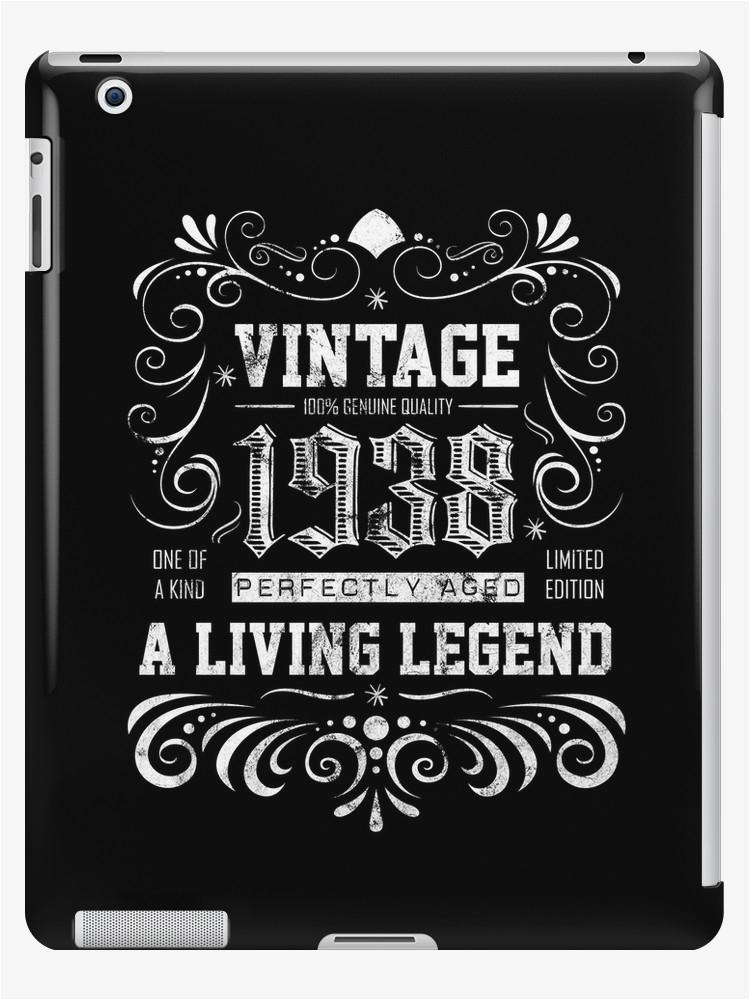 30262153 1938 birthday present 80 years old 80th birthday gift p ipad case