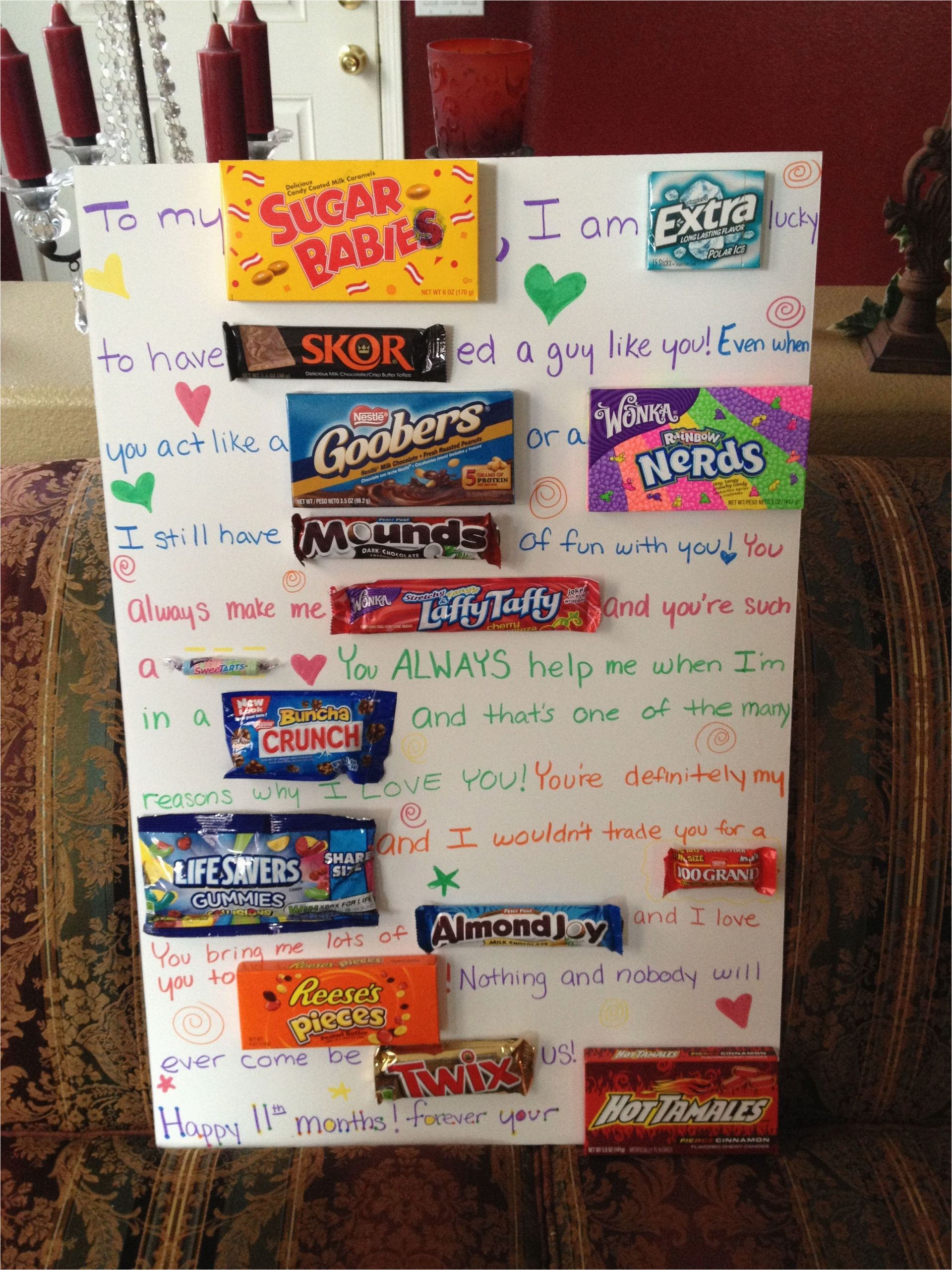 Birthday Gifts for Him Boyfriends that 39 S so Creative but You Have to Buy All that Candy