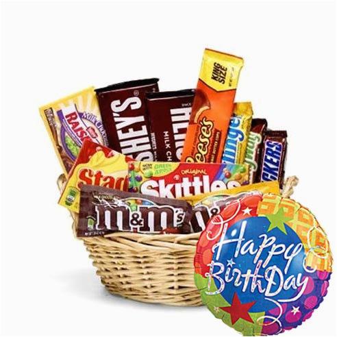 birthday candy basket