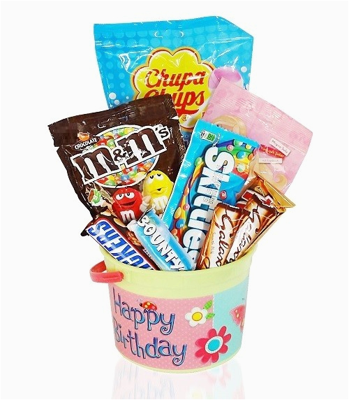 happy birthday party gift bucket