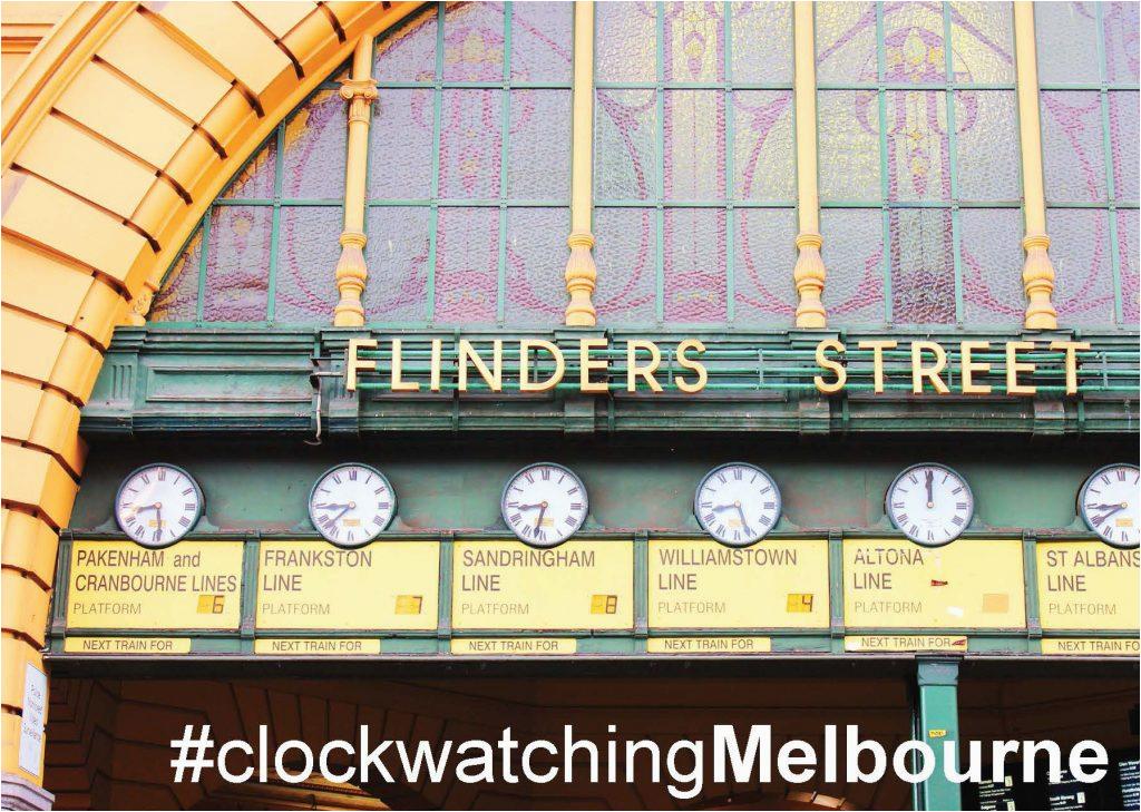 greeting card melbourne flinders street station australia souvenir australia iconic