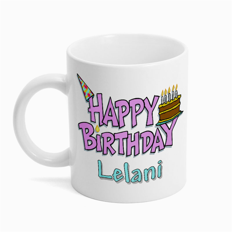 personalized happy birthday mug p2414
