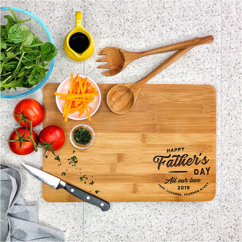 personalised chopping board happy fathers day