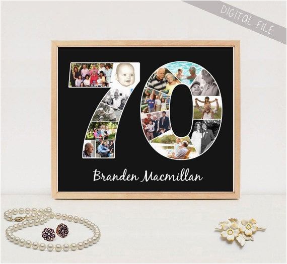 photo collage 70th birthday gift for him
