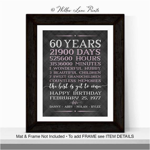 60th birthday decoration 60th birthday gifts