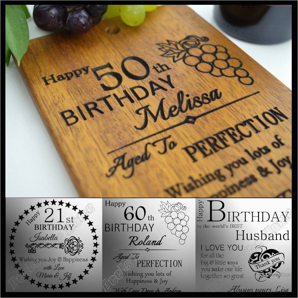 Birthday Gifts for Husband From Wife Personalised Birthday Card 21 30th 40th 50th 60th Gift for