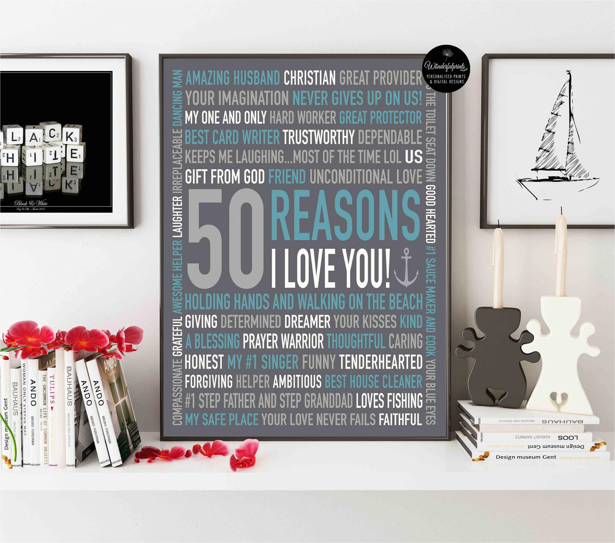 50th birthday gift for husband gift for