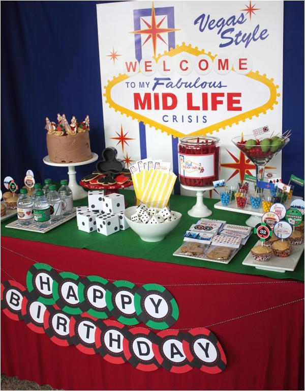 las vegas themed birthday party
