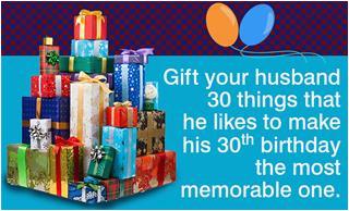 birthday ideas for husband turning30