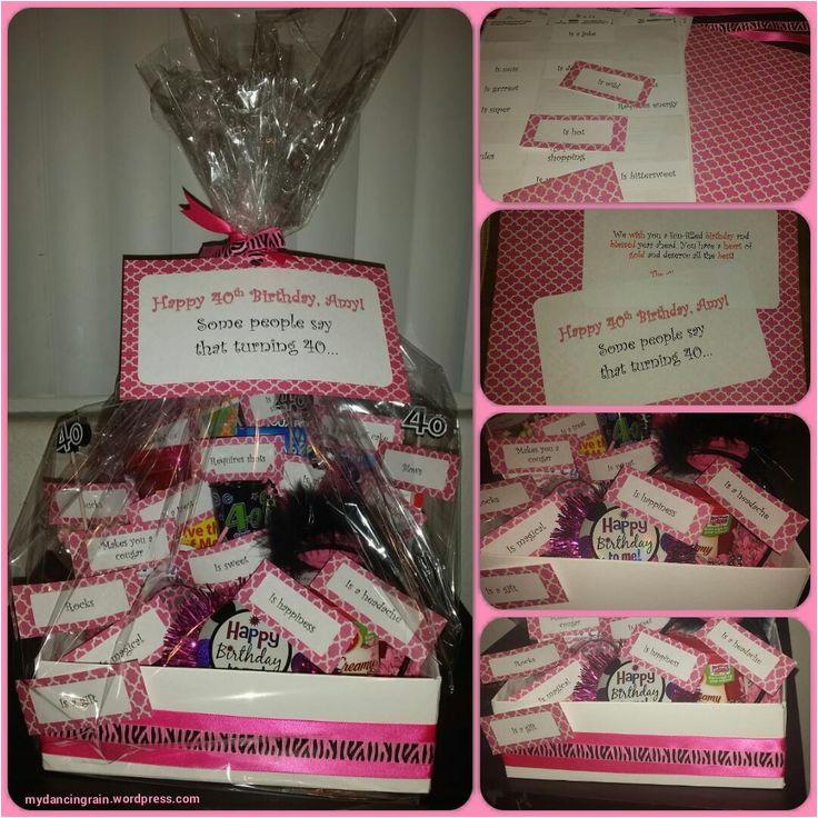 Birthday Ideas for Boyfriend Turning 40 Quot some People Say Turning 40 Quot Birthday Gift Basket Idea