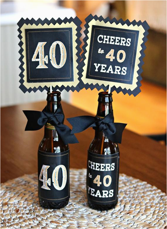 40th birthday decorations 40th party centerpiece 2