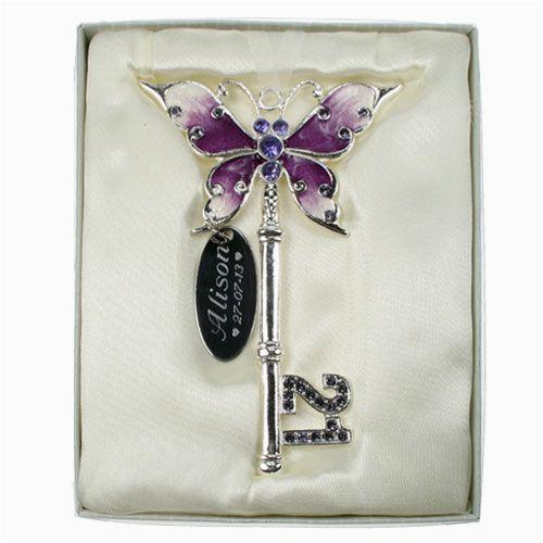 21st birthday lilac butterfly key 2481 p