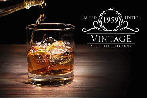 1959 60th birthday gifts for women and men whiskey glass funny vintage 60 year old anniversary gift ideas him her dad mom husband wife 11 oz whisky bourbon glasses party supplies decorations