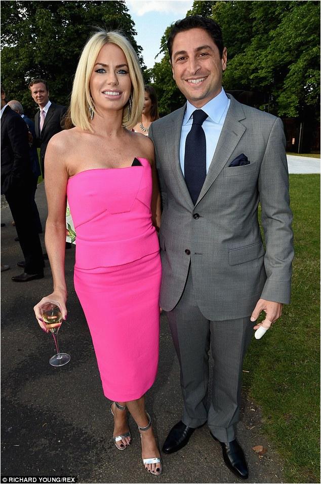 ladies of london star caroline stanbury wows strapless hot pink dress serpentine summer party london