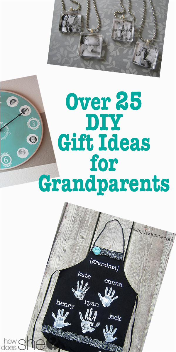 over 25 diy gift ideas for grandparents