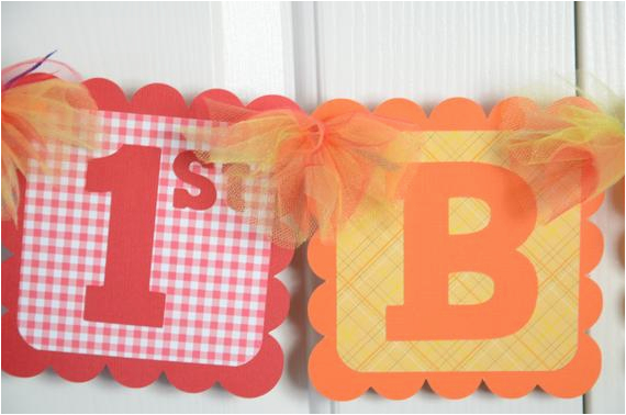 happy 1st birthday banner birthday party