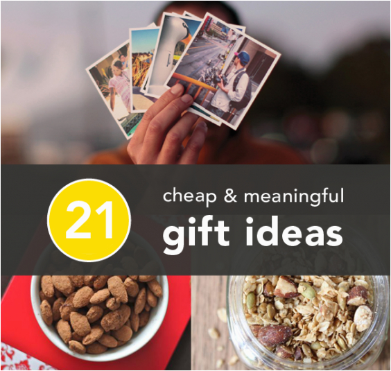 meaningful gifts on the cheap