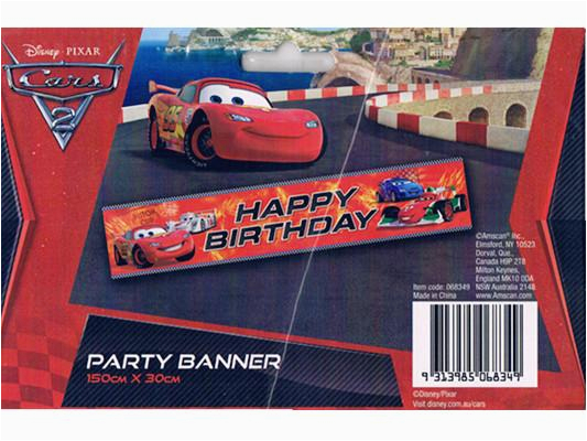 cars 2 lightning mcqueen happy birthday party banner 150cmx30cm 068349 partymode i5336291 2007 01 sale i