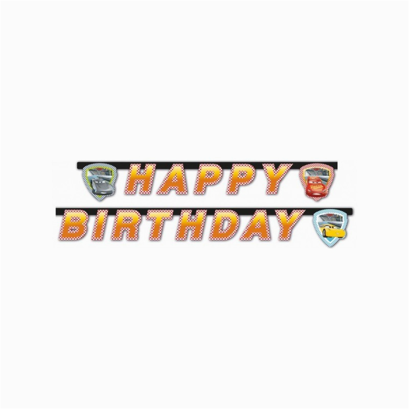 1789 cars 3 happy birthday banner 5201184878040