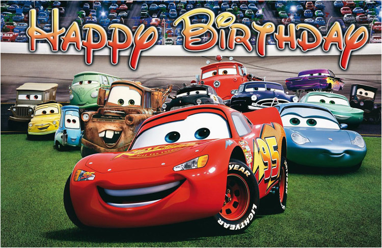 Cars 3 Happy Birthday Banner Disney Cars Birthday Banner
