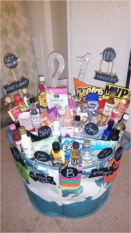 Creative 21st Birthday Gift Ideas for Boyfriend 21st Birthday Basket Gift Baskets Birthday Gifts for