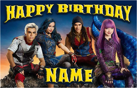 disney descendants 2 happy birthday name