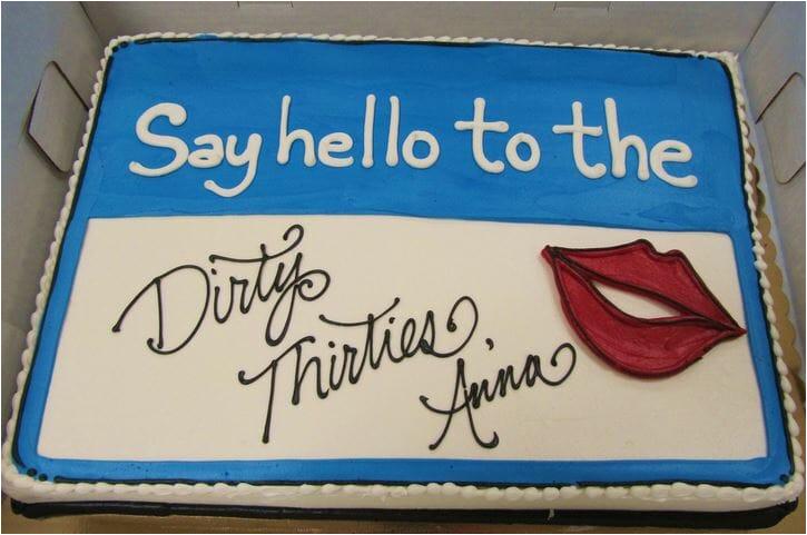 dirty 30 themed birthday party ideas