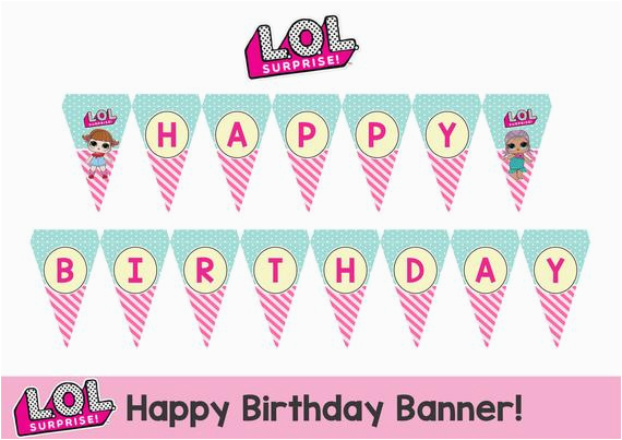 lol surprise happy birthday banner
