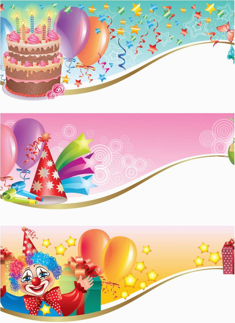 Download Free Happy Birthday Banner Clipart Happy Birthday Banners Vector Thousands Free Vector