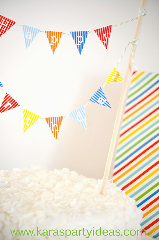 free mini cake pennant bunting for