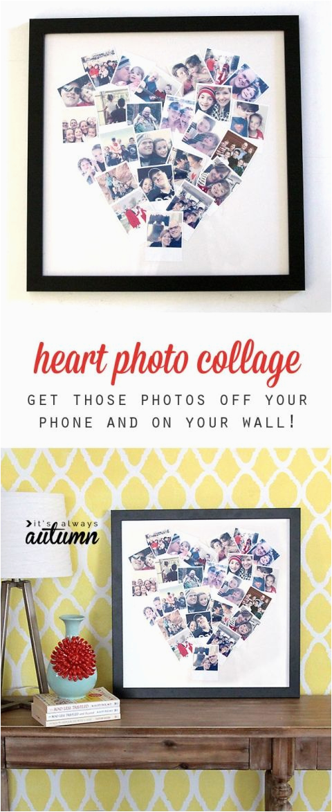 Electronic Birthday Gifts for Boyfriend Diy Heart Shaped Photo Collage for Instagram Polaroid