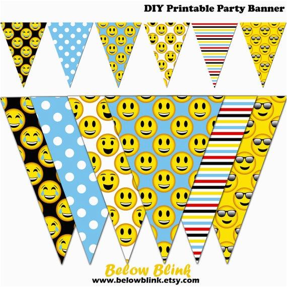 emoji banner smiley printable banner emoji