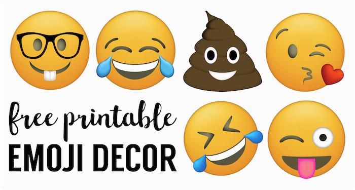 emoji faces printable free emoji printables