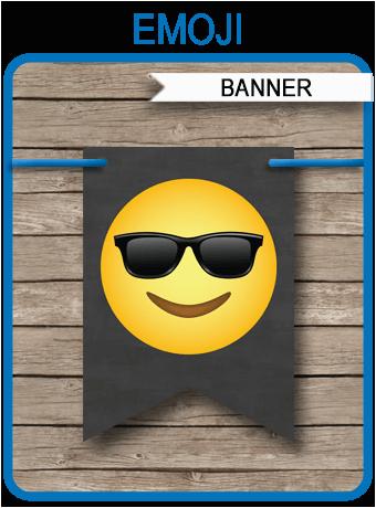 emoji printable banner boys