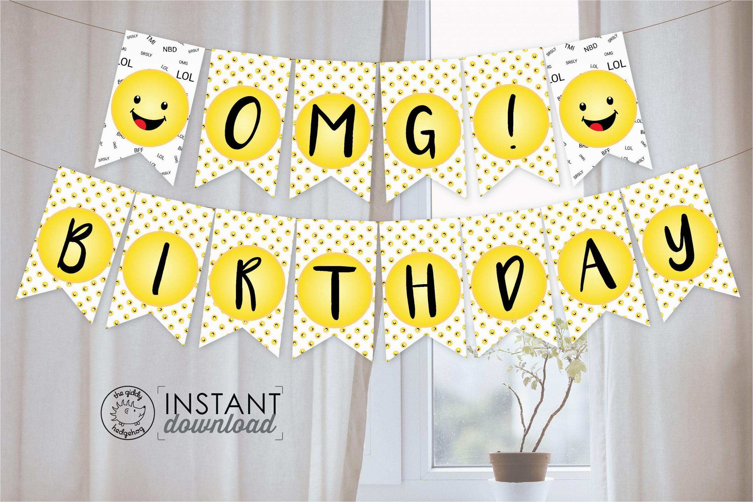 emoji party banner birthday party
