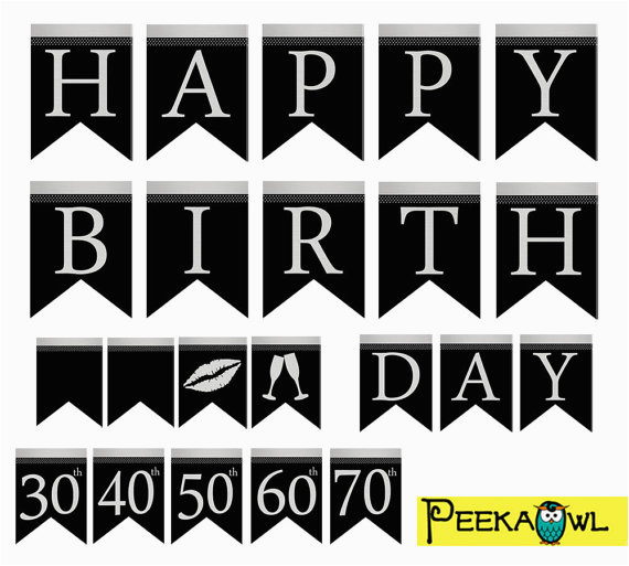happy 50th birthday banner printable