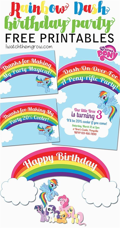 my little pony rainbow dash birthday party printables