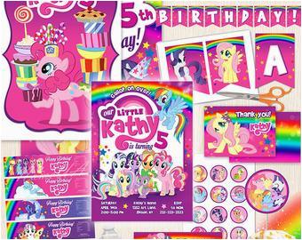 pony birthday banner